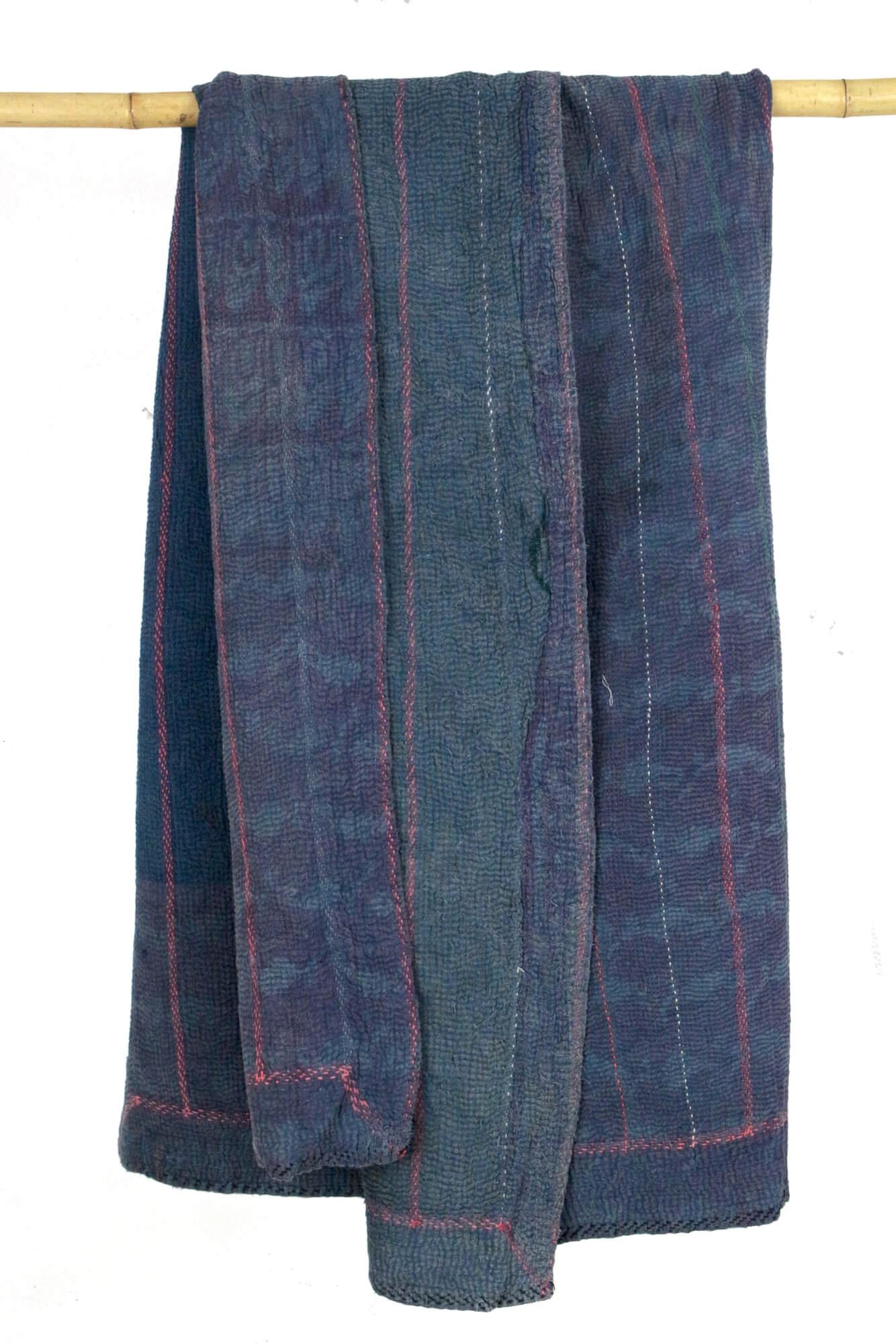 Baumwolldecke blau, Vintage