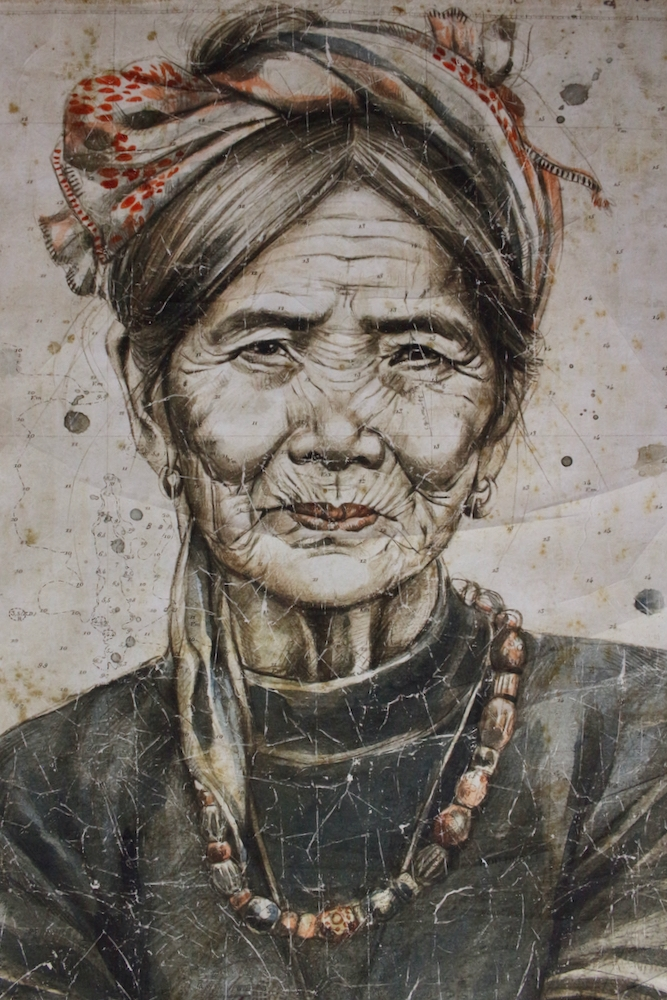 Wandbild 'Kalinga-Frau', 200x150