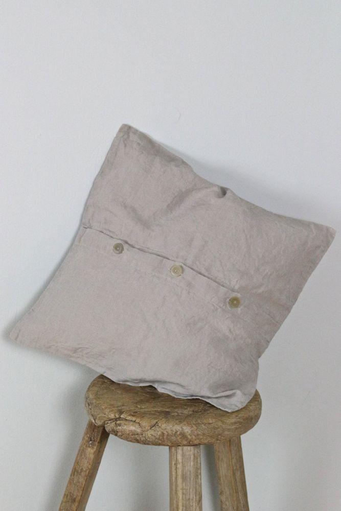Leinenkissen 40x40 steingrau