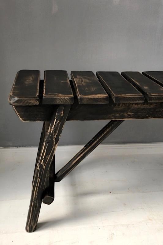 Holzbank schwarz Marokko, 88 cm