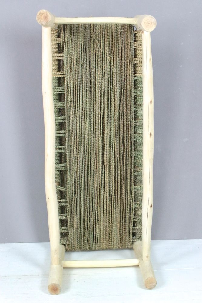 Bank mit Palmgrasgeflecht, 100 cm