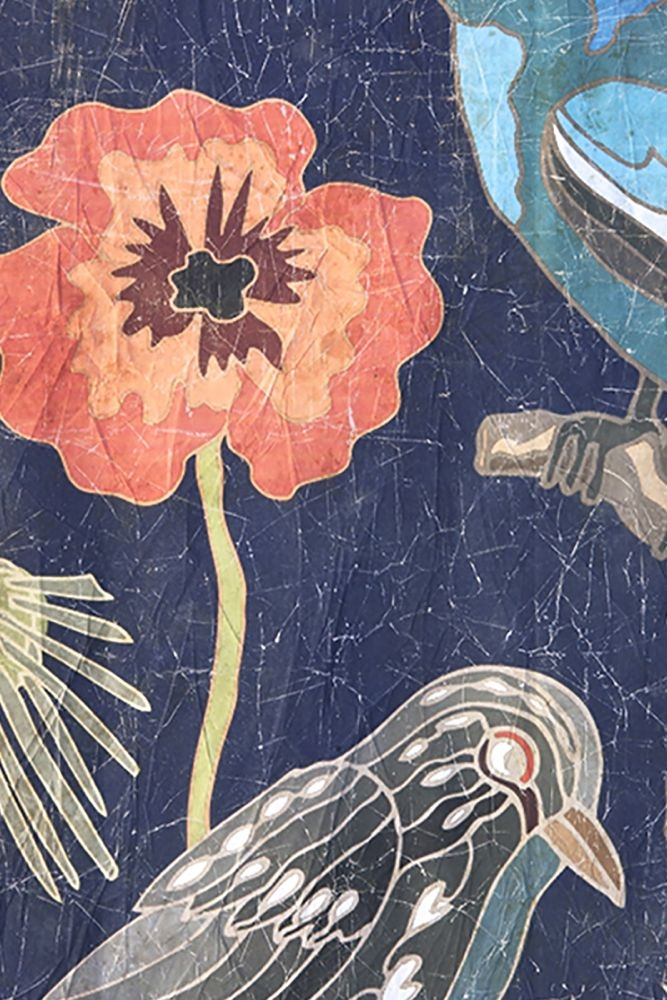 Tapetenbild Blumen und Vögel, 120x120