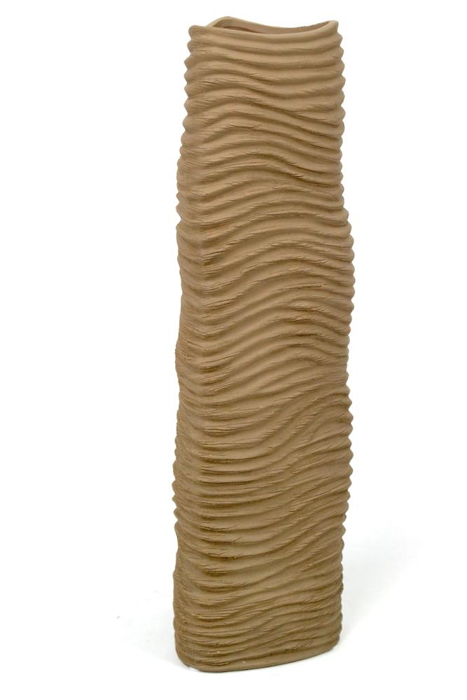 Keramikvase ocker, 46 cm