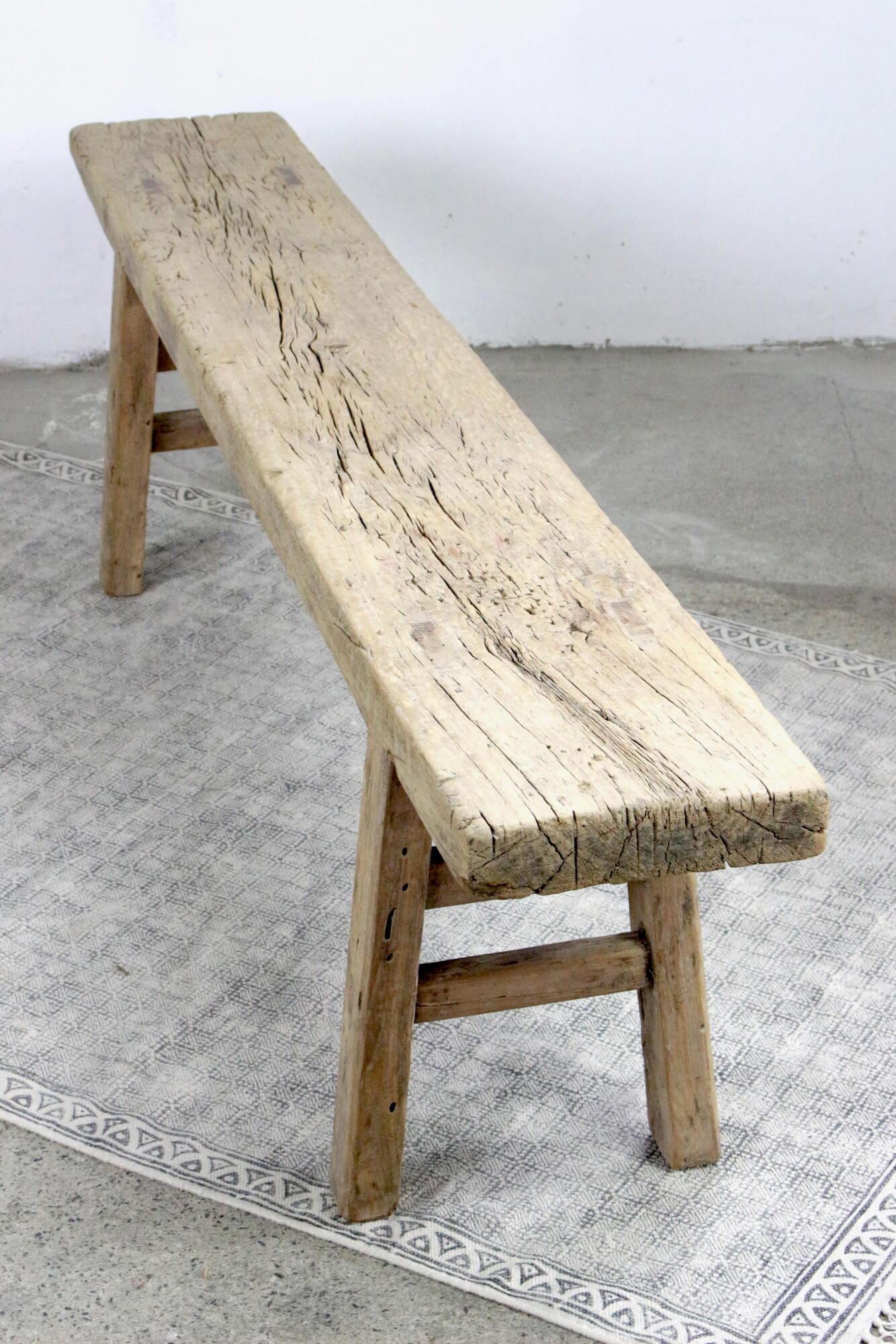 Antike chinesische Holzbank 178 cm
