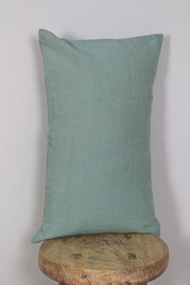 Kissenbezug gewaschenes Leinen mint, 30x50