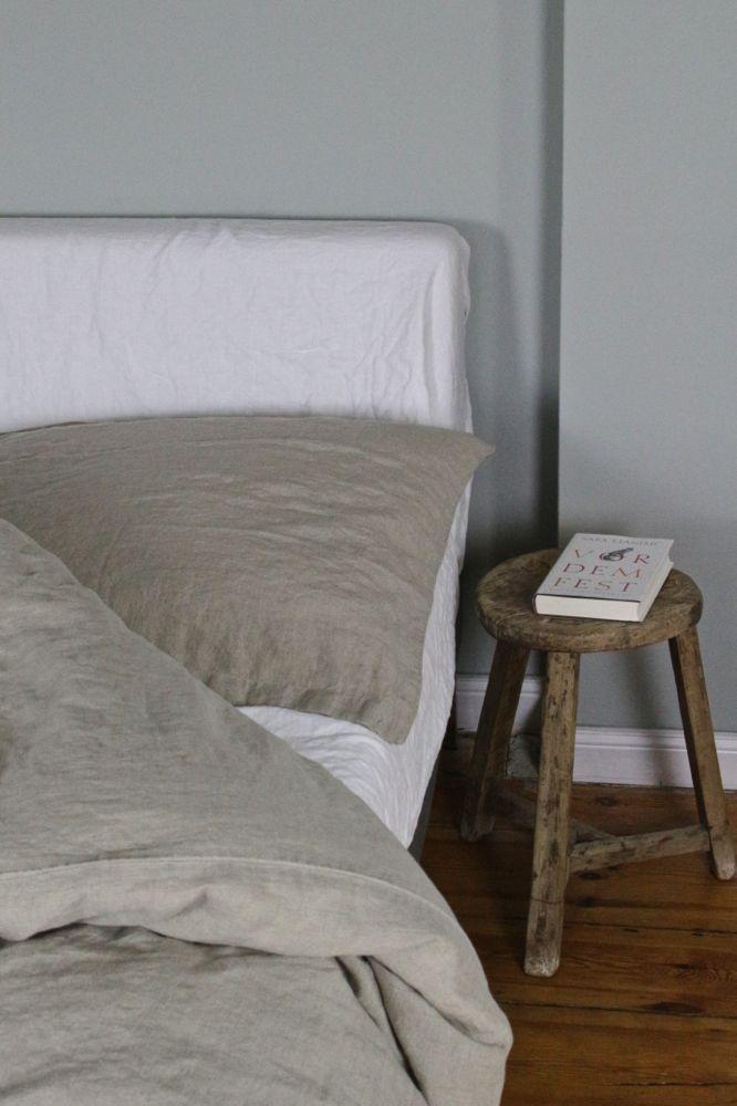 Leinenbettwäsche stone washed, 'natural' beige