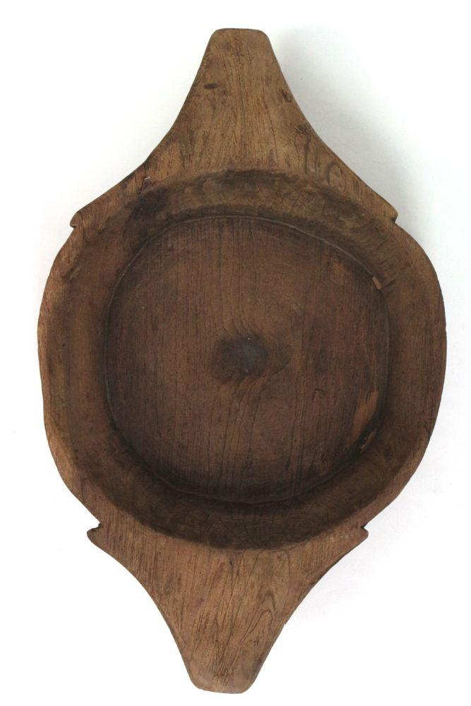 Holzschale Indien, L60 x ø37 cm