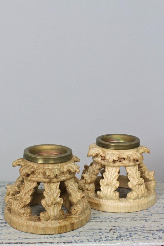 Kerzenständer aus Holz, Handarbeit