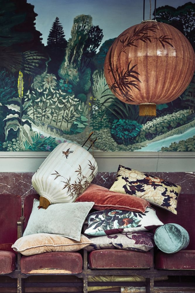 Kissen  mit Japan Print, 35x60