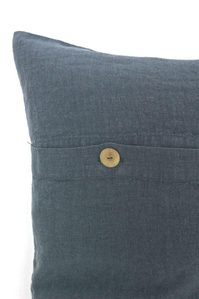 Leinenkissen stone washed blaugrau, 30x50
