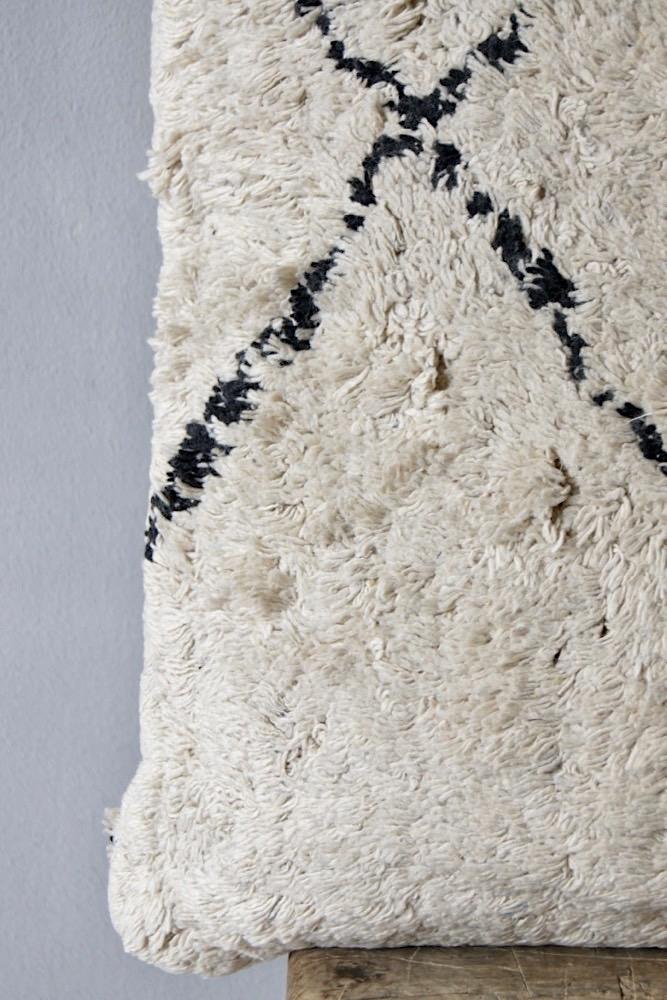 Black & White Boho Kissen, 50x50