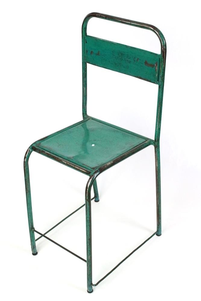 Gartenstuhl Metall Vintage meergrün