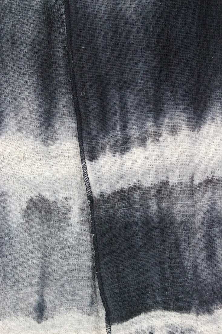 Batik Decke schwarz-weiß Baumwolle, 180x150