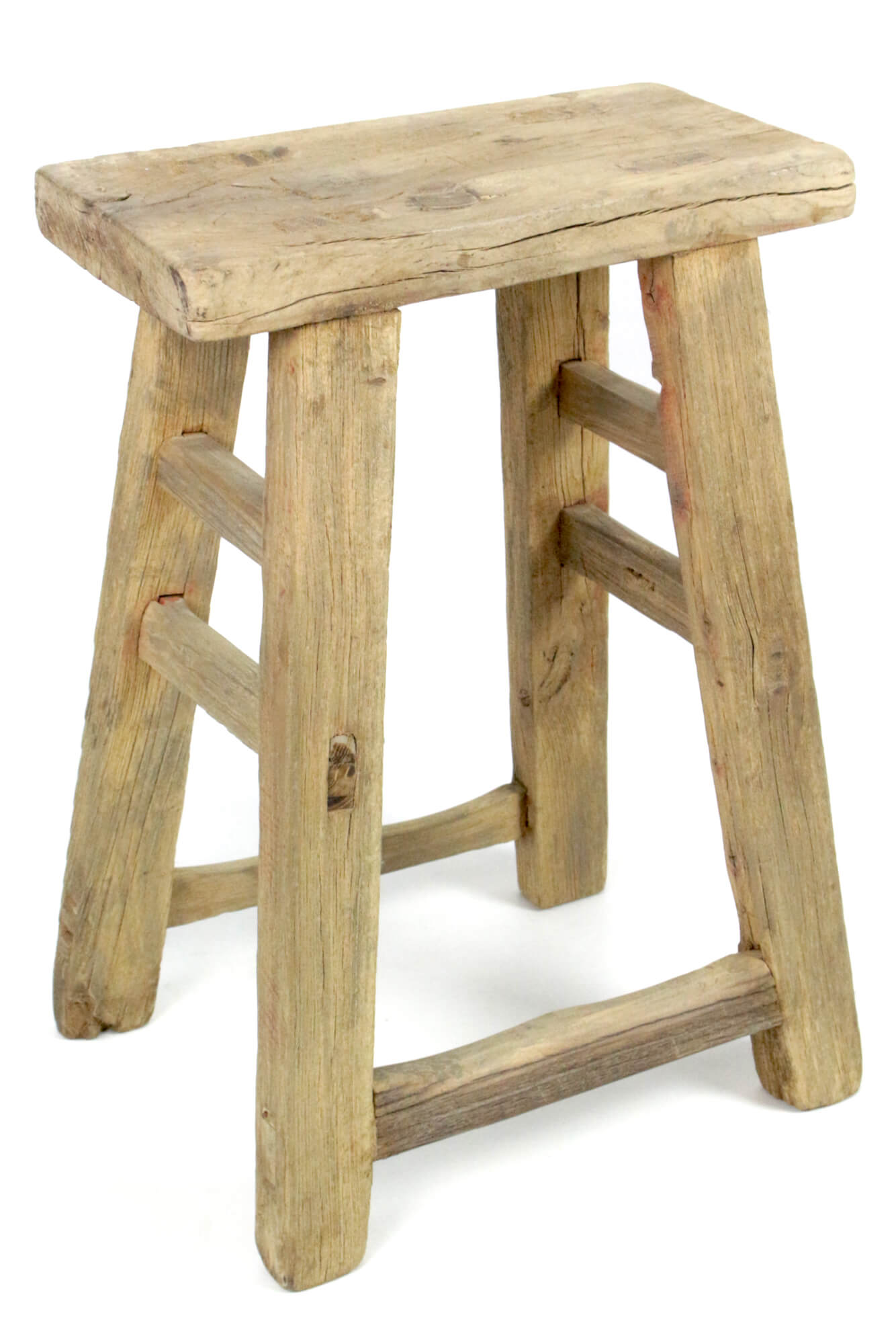 Arbeitshocker aus Holz, China antik