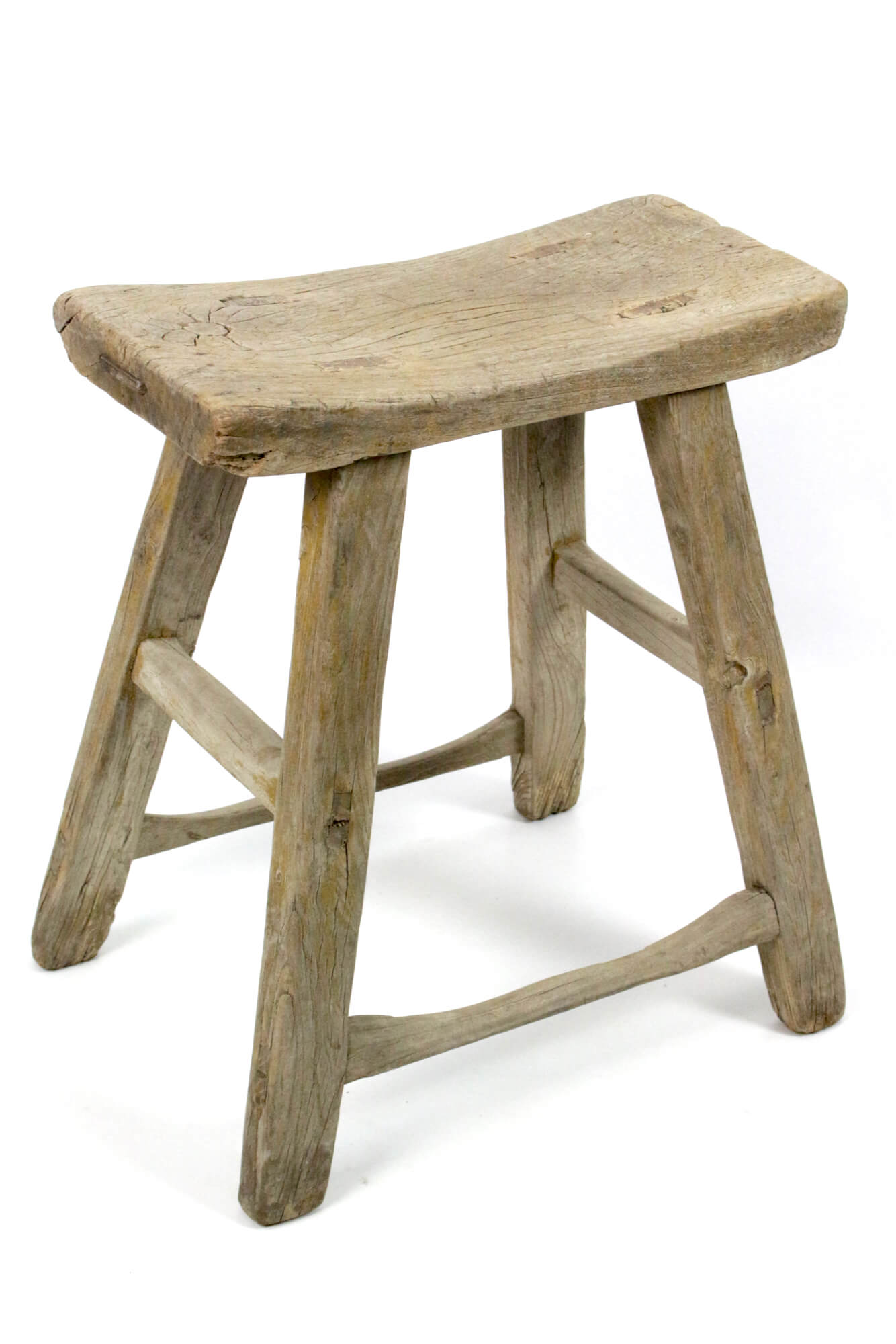 Holzhocker antik rustikal China Sattelform