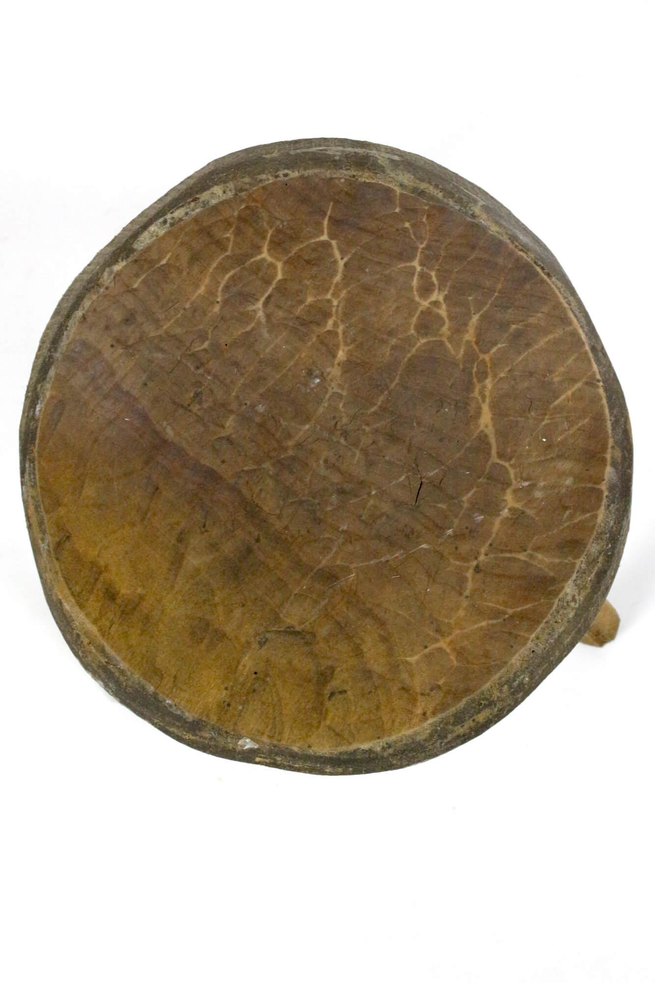 Runder Holzschemel rustikal
