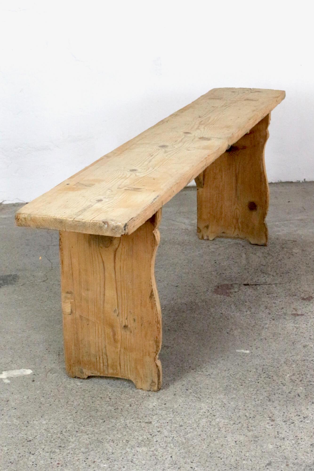 Bauernbank antik ohne Lehne 160 cm