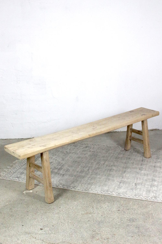 Antike chinesische Holzbank 190 cm