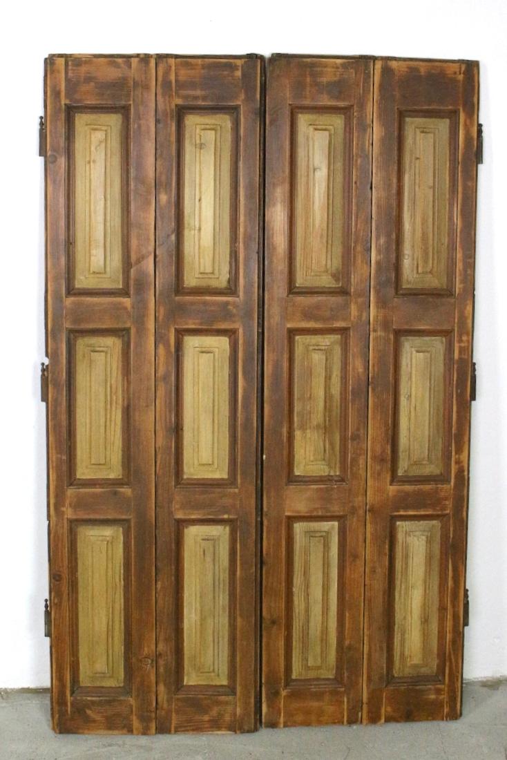 2 Fensterläden braun antik (Paar), 148x92