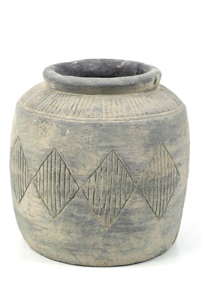 Blumenübertopf, Vase Zement 23x23