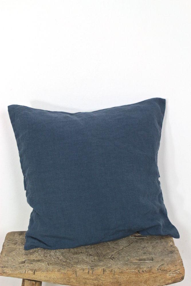 Kissenbezug Leinen stonewashed Indigo, 40x40