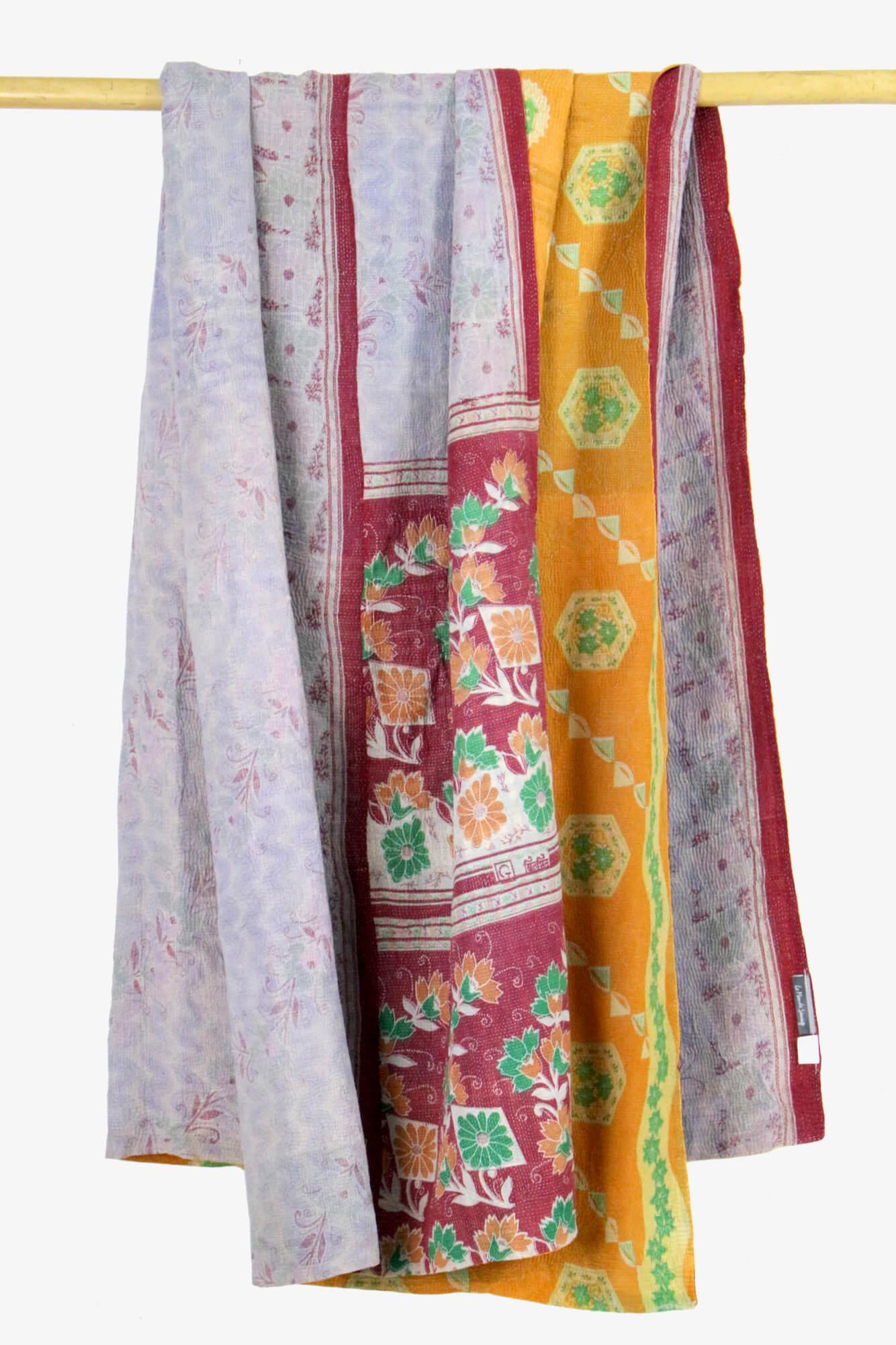 Vintage Baumwolldecke Indien