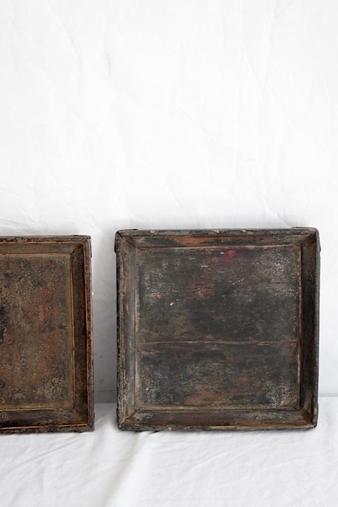Kleines antikes Tablett, 20x20