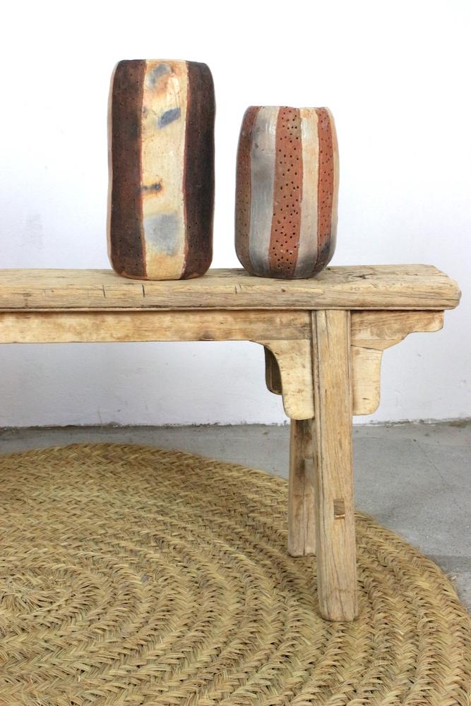 Holzbank antik rustikal, 130 cm