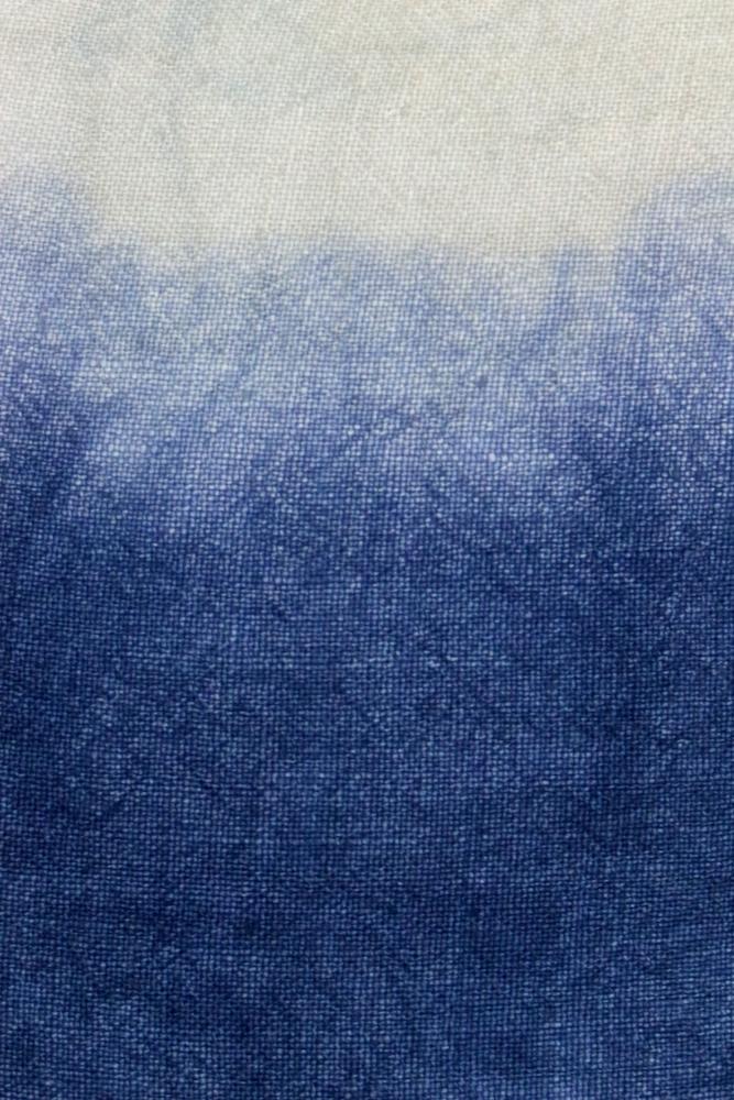 Batikkissen Leinen weiß Indigo 35x35