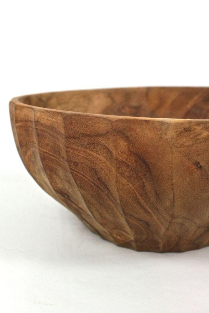 Holzschale Handarbeit Indonesien, ø 20 cm