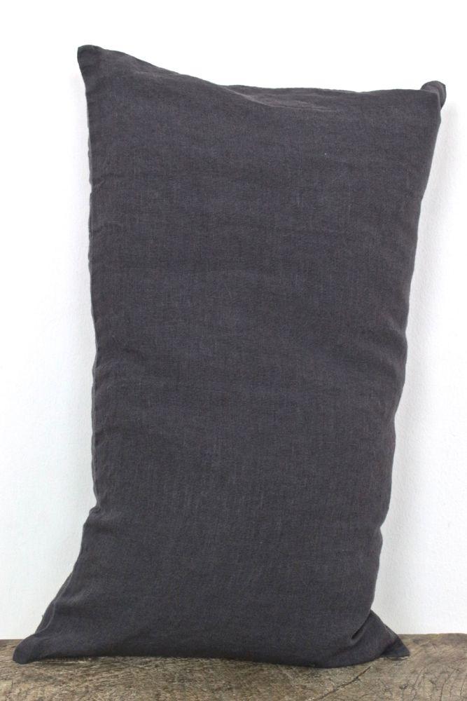 Kissenbezug Leinen gewaschen Dunkelgrau, 30x50