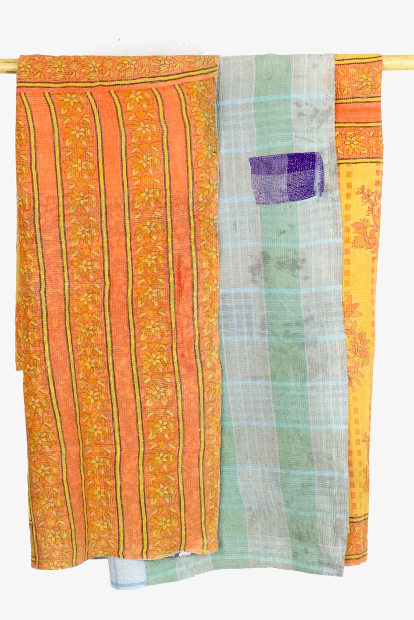 Baumwolldecke Vintage Indien
