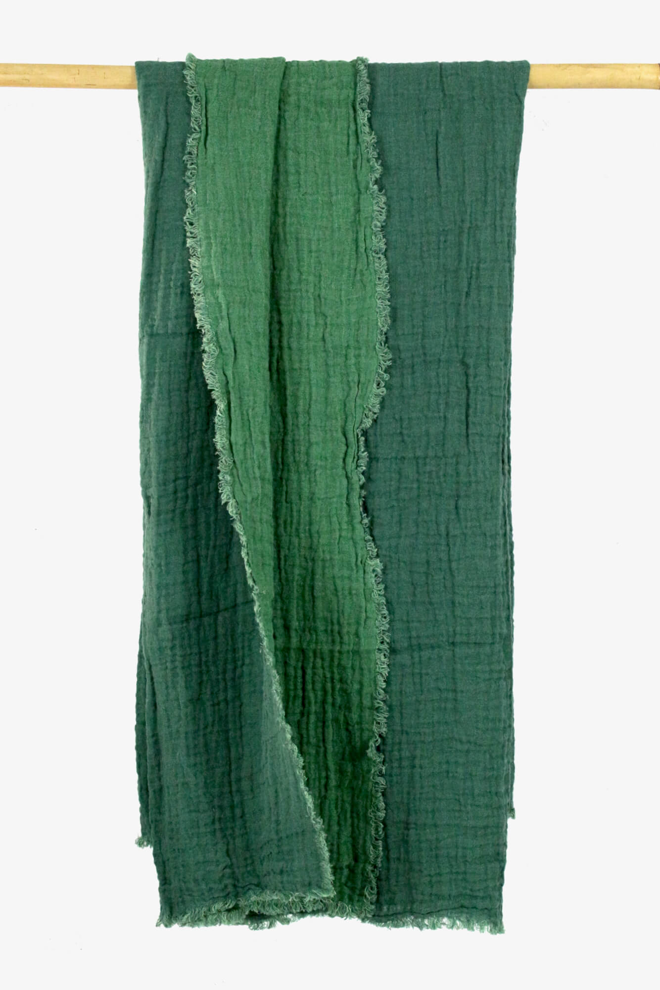 Leinenplaid grün gewaschenes Leinen
