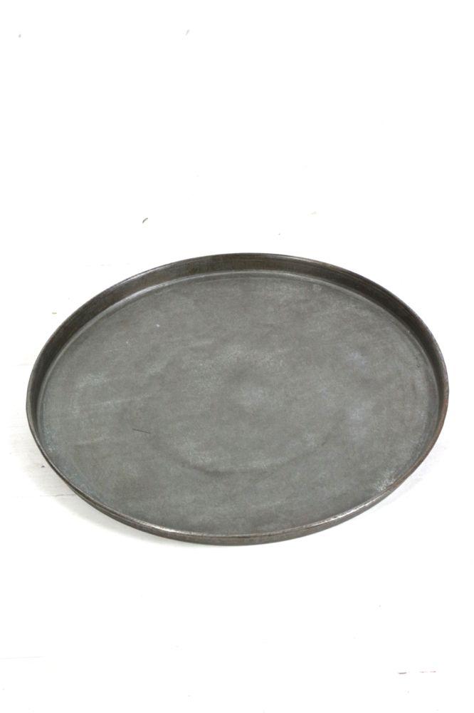 Tablett rund Metall