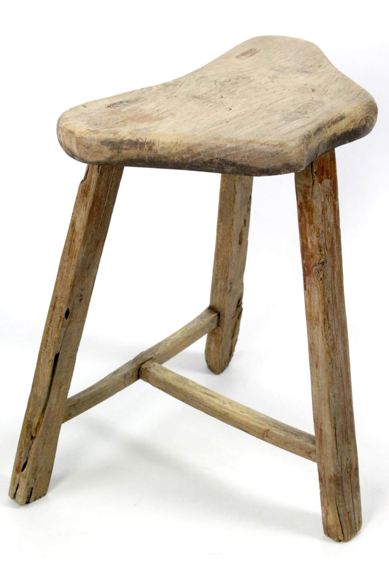 Holzhocker Asien antik