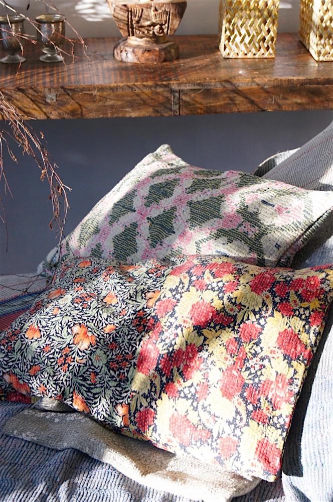Baumwollkissen aus Indien Vintage 40x60