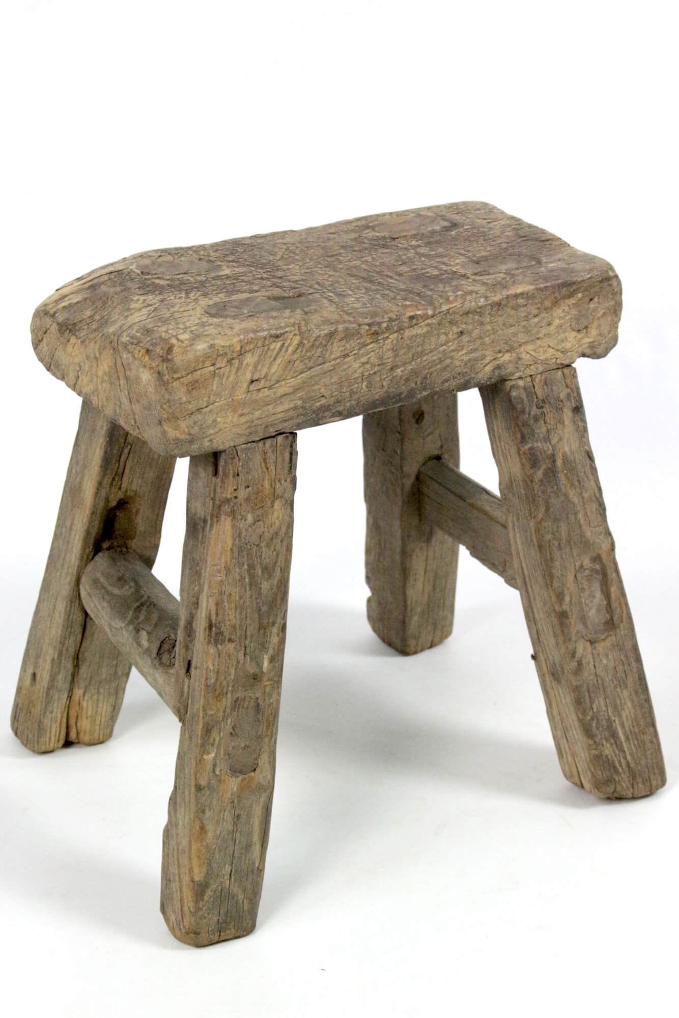 Derber-Schemel aus Holz antik