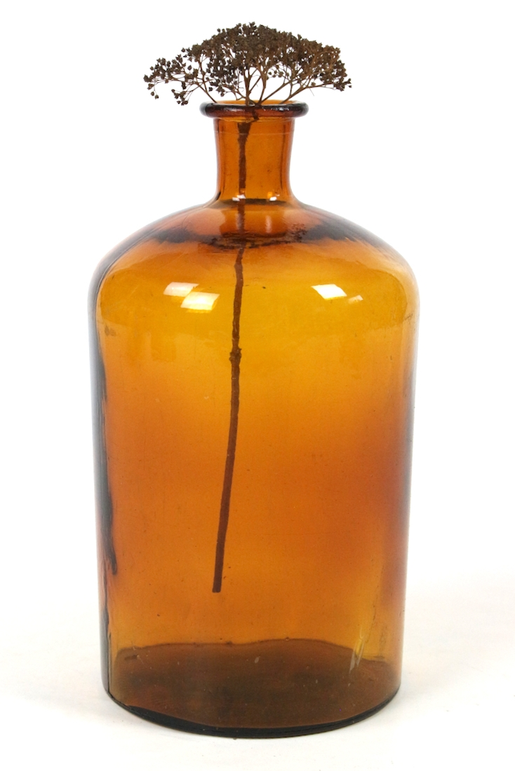 Altes Apothekerglas 5 Liter braun