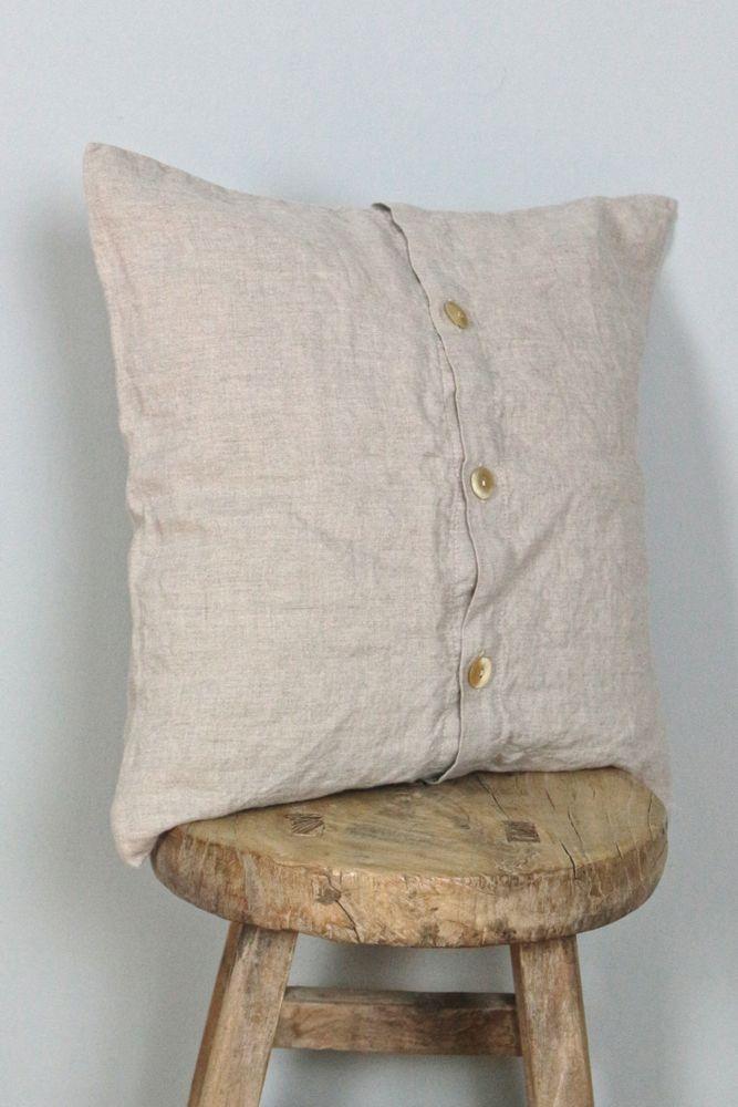 Leinenkissen natur gewaschenes Leinen, 40x40