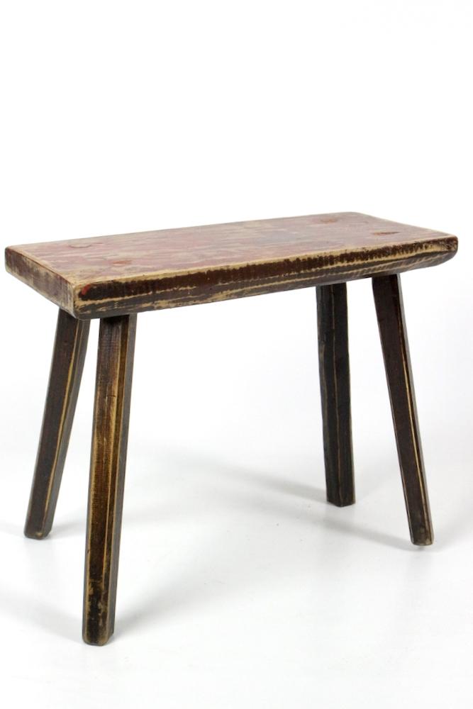 Holzschemel rustikal, antik