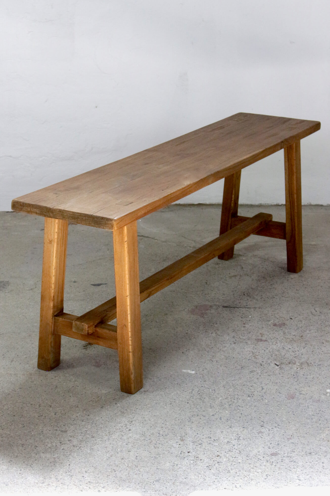 Holzbank Teakholz Handarbeit, 130 cm