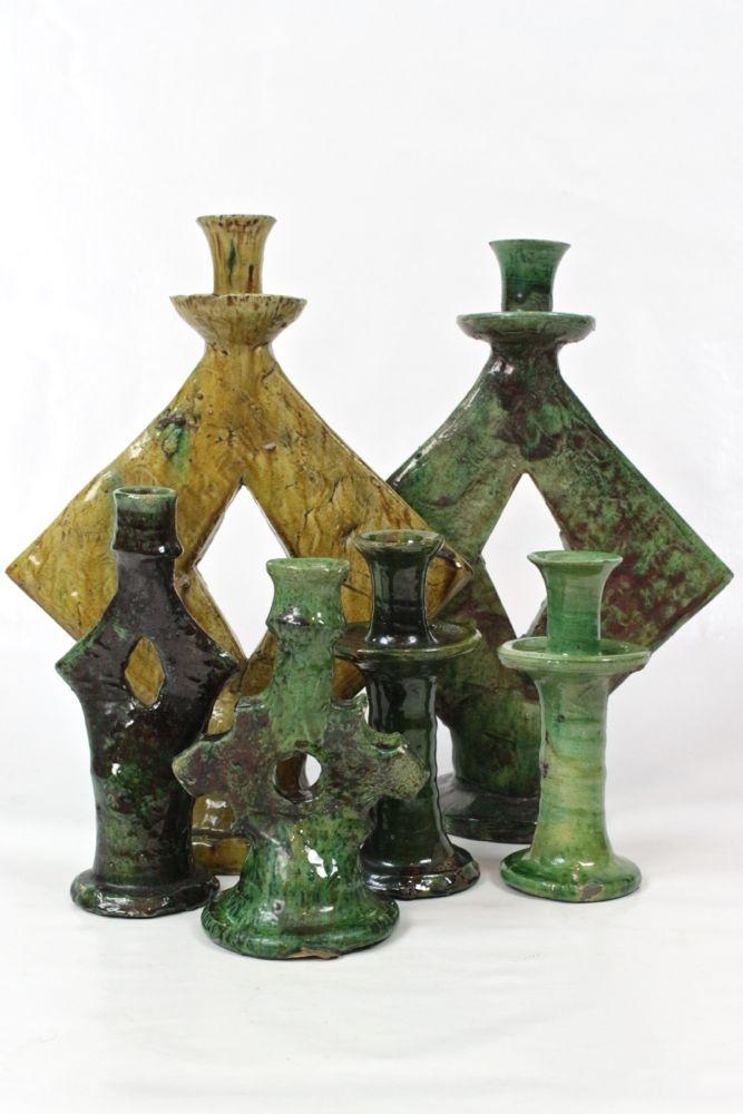 Kerzenständer Tamegroute aus Keramik, 21 cm