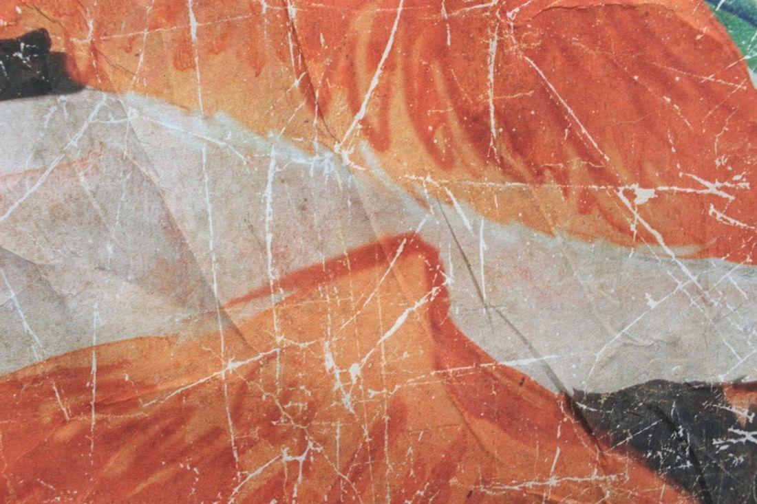 Tapetenbild 'Flamingo' auf Knitterpapier, 120x120
