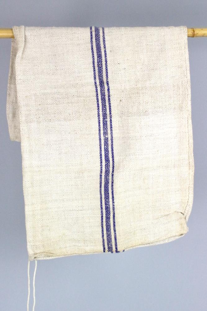 Getreidesack mit blauem Streifen