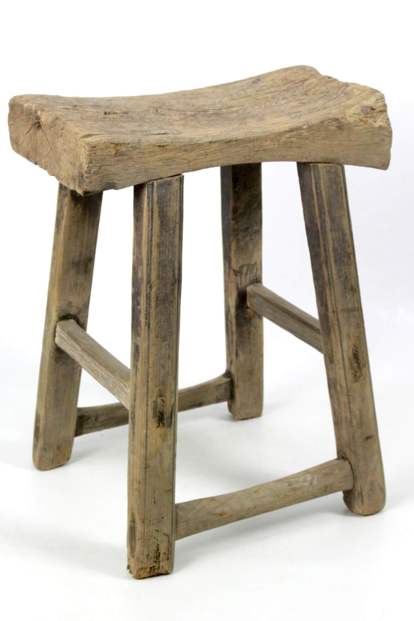 Chinesischer Hocker antik, Sattelform