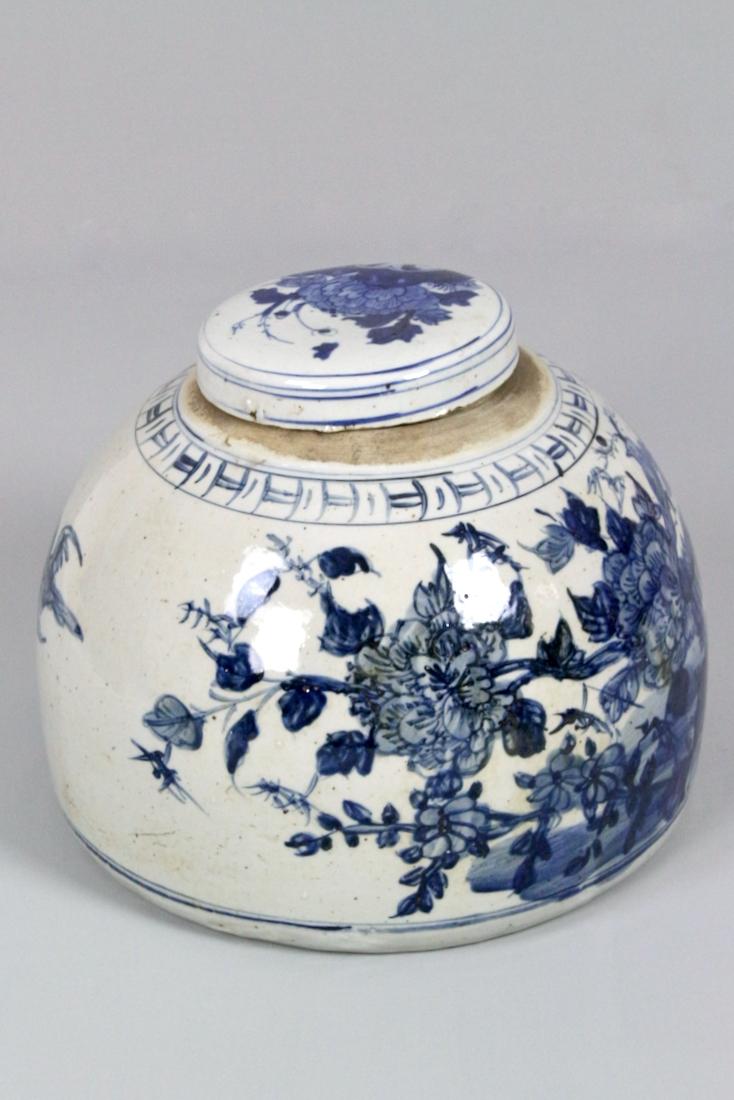 Große Dose aus Porzellan China, 23xø30