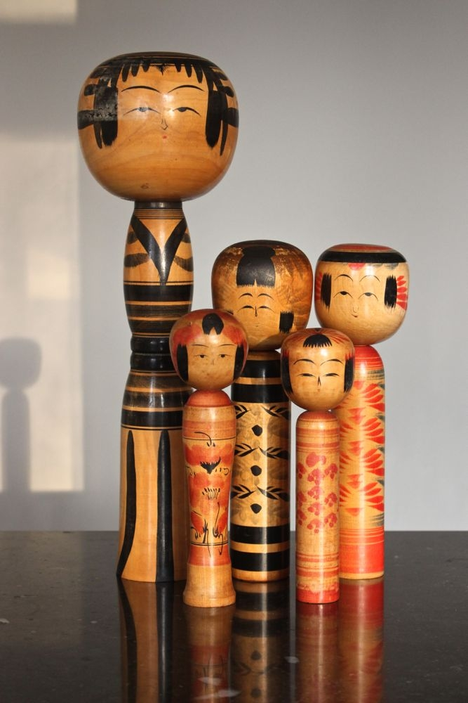 Große alte Kokeshi Japan Puppe, 40 cm