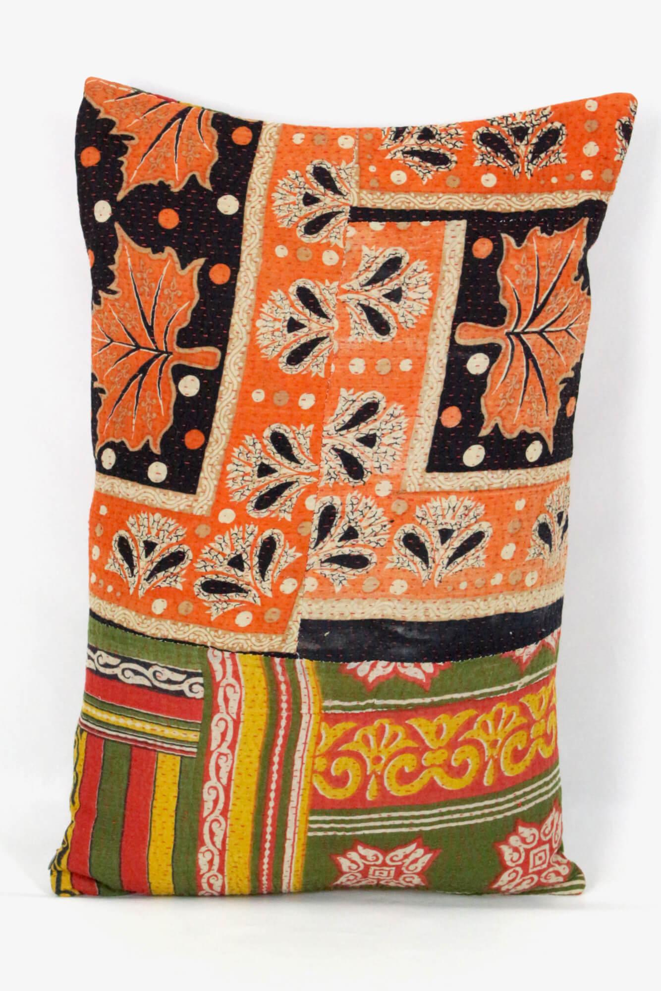 Buntes Bohokissen Baumwolle Indien, 40x60