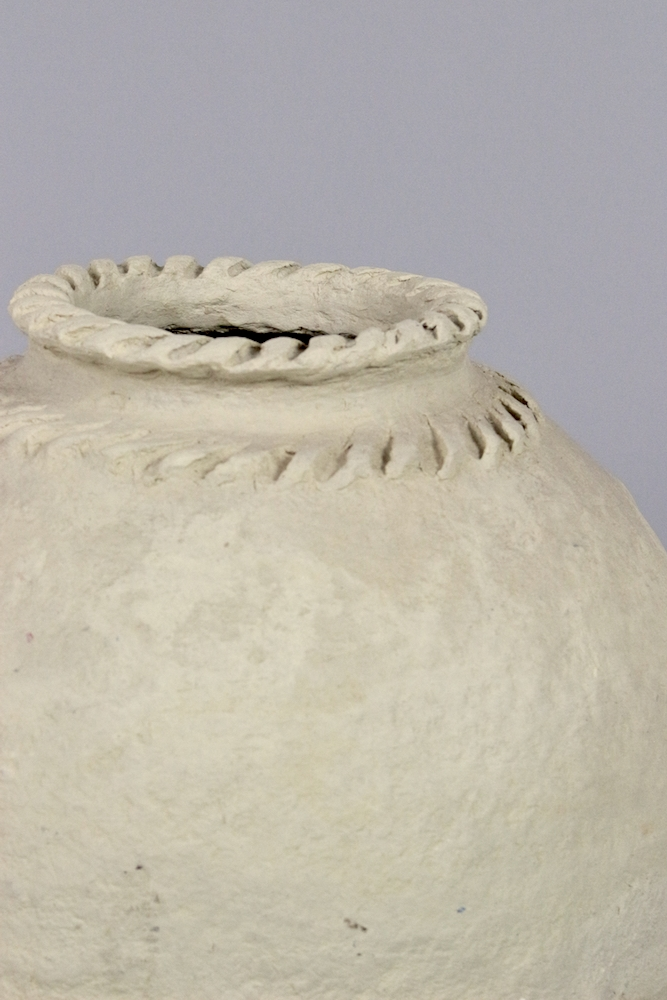 Große Pappmaschee Vase, 44xø37
