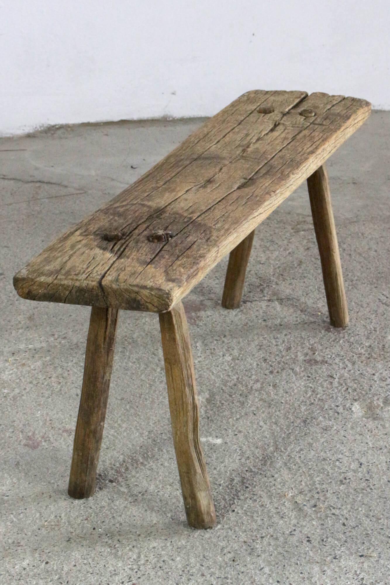 Holzbank antik rustikal, 89 cm
